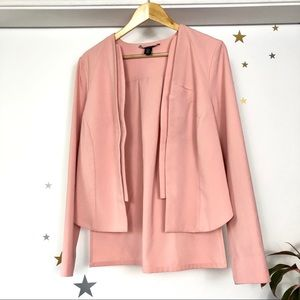 Blush pink layered panel blazer by Kenneth Cole